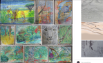 collection drawings and paintings various mediums, Carol Keiter, art, progressions, painting, Faber Castell watercolor pencils, graphite, portraits, animal portraits, trees