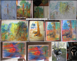 paintings, Santa Fe National Forest