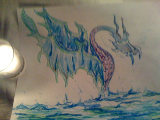 water dragon ocean
