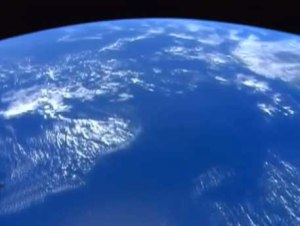 Earth from a satellite image