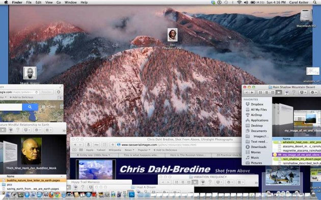 desktop Chris Dahl-bredine's photo of El Salto above Taos, New Mexico