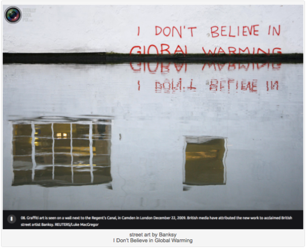 Banksy street art Global Warming