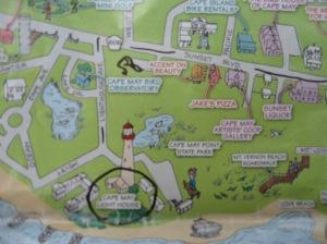Cape May cartoon map
