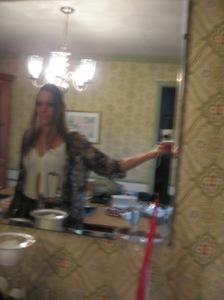 blurry selfie