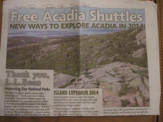 Acadia National Park free shuttles
