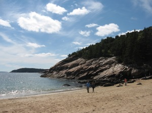 sandy beach in Acadia Nat'l Park