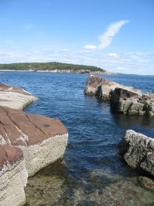 rocky cliff Acadia