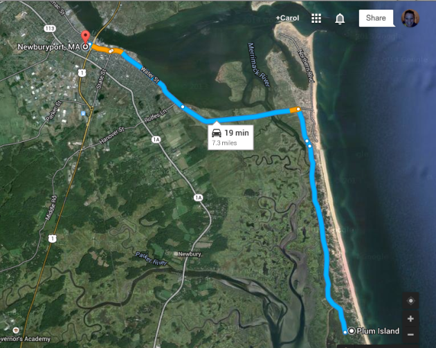 Newburyport to Plum Island MA