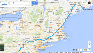 So I googled to get directions, and tweaked them with my sister Barb's route suggestions.