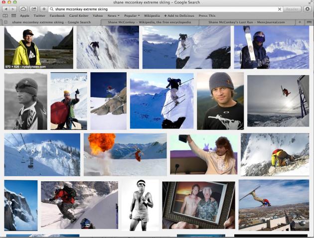 Shane McConkey Extreme Skier, Basejumper, Wingsuit diver