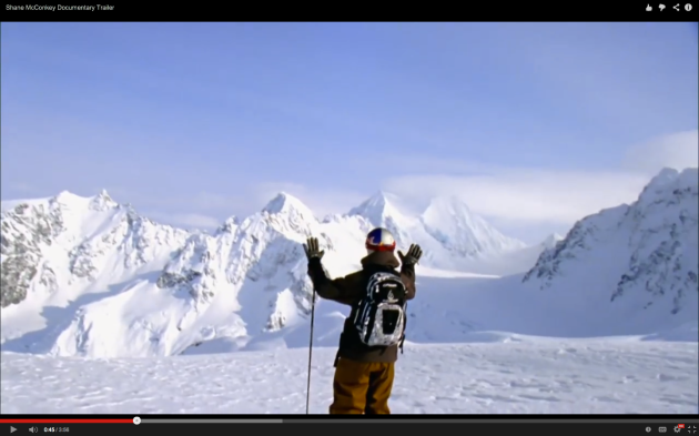 Majestic peaks in view with one of Shane McConkey's ventures