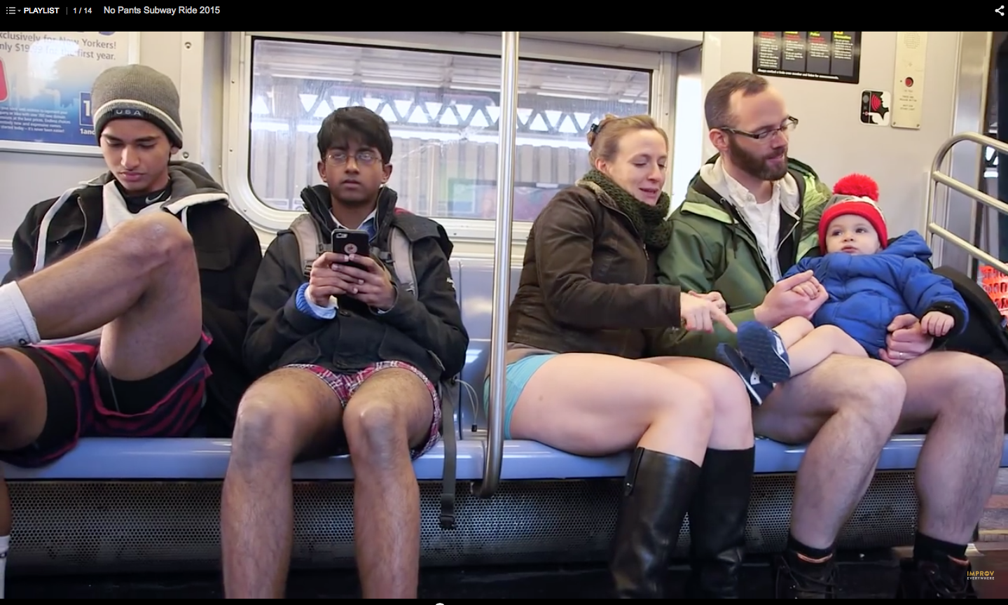 improveverywhere, no pants subway rid, nYc