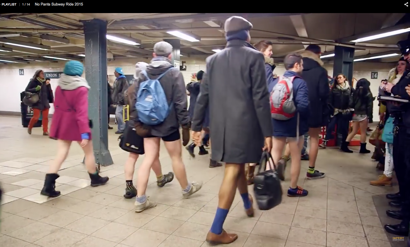 no pants subway ride improveverywhere nYc