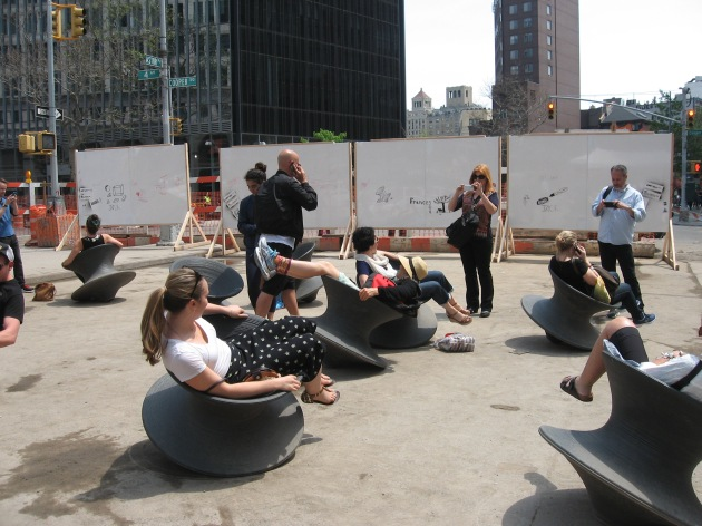 NYC X Design, interactive chairs