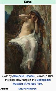 Echo by Alexandre Cabanel 1874 Mount Kithairon