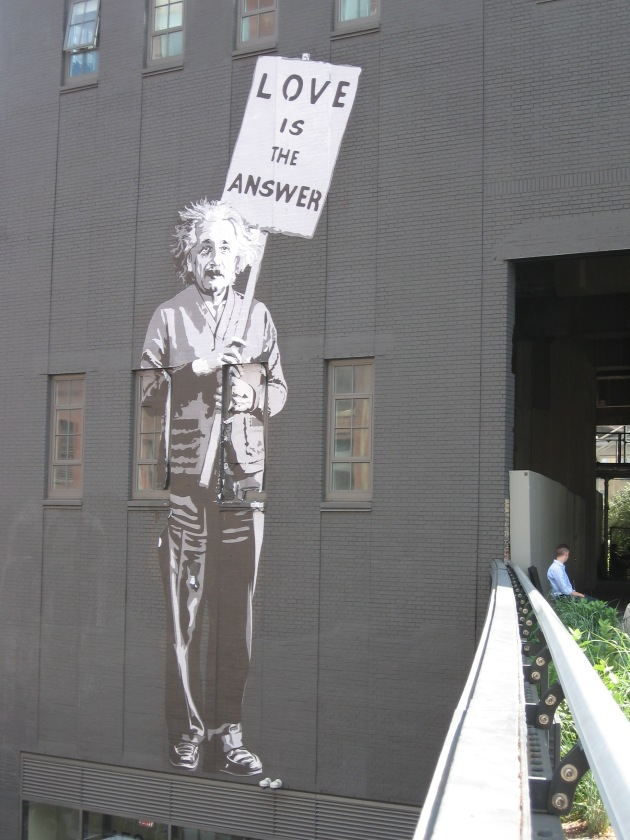 highline, graffiti, einstein