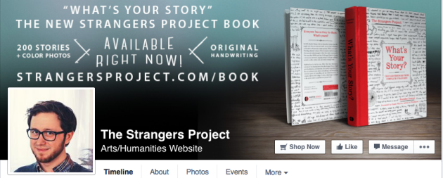 the Strangers Project on Facebook whats your story