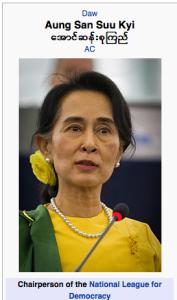 Aung San Suu Kyi, shoes
