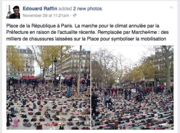 Place de la République, shoes, Nov 29