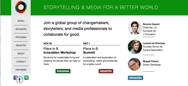 TM Transformational Media Summit Storytellers, media professionals, changemakers