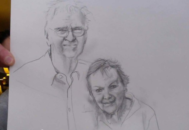 My drawing of my parents James and Lois Keiter