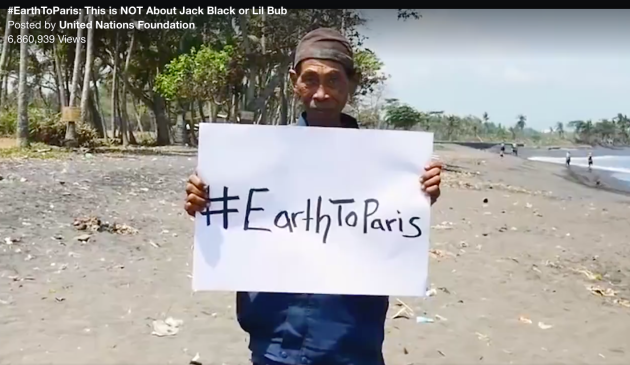 UN Foundation, Earth to Paris,  message to combat climate change to world leaders