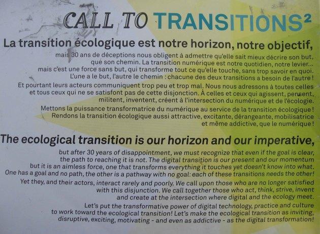 transition écologique ecological, objectif,imperative!