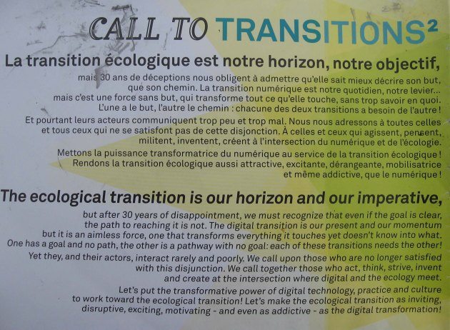 transition écologique ecological, objectif,imperative!
