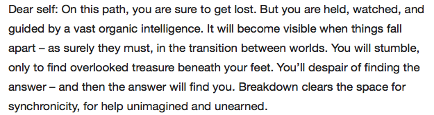Charles Eisenstein, organic intelligence, answer will find you.