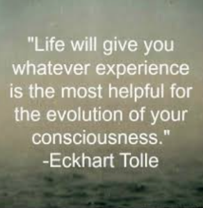 Eckhart Tolle, Life, experience necessary