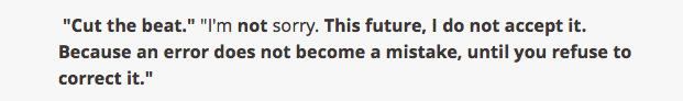 Dear Future Generations, Sorry, Prince Ea, I am not sorry, error does not become a mistake until you refuse to correct it