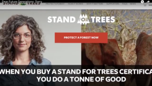 Stand for Trees certificate
