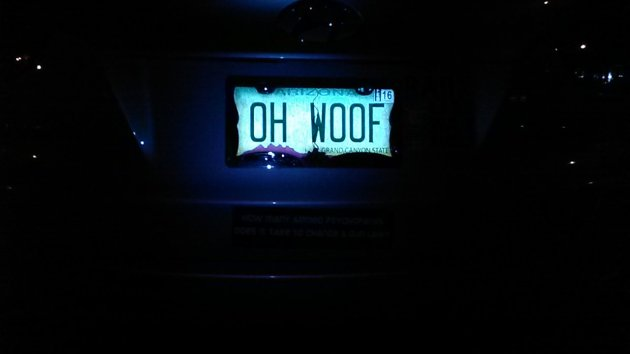 oh woof license plate