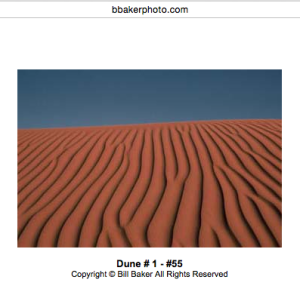 Bill Baker's, photography, desert.