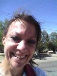 Carol Keiter selfie sun squint