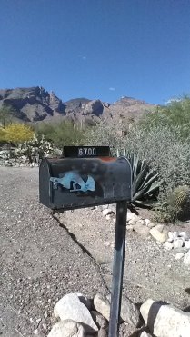 copper flute player mailbox