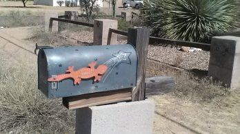 gecko shooting star mailbox