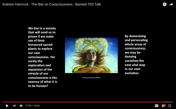 Graham Hancock, The War on Consciousness, demonizing, consciousness, deny evolution
