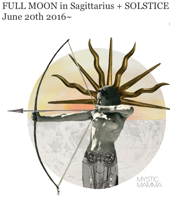 Full Moon, Sagittarius, June 20, mysticmamma