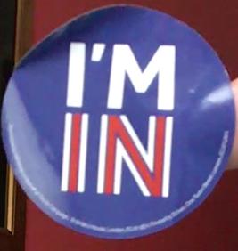 I'M IN button, Great Britain, referendum, European Union