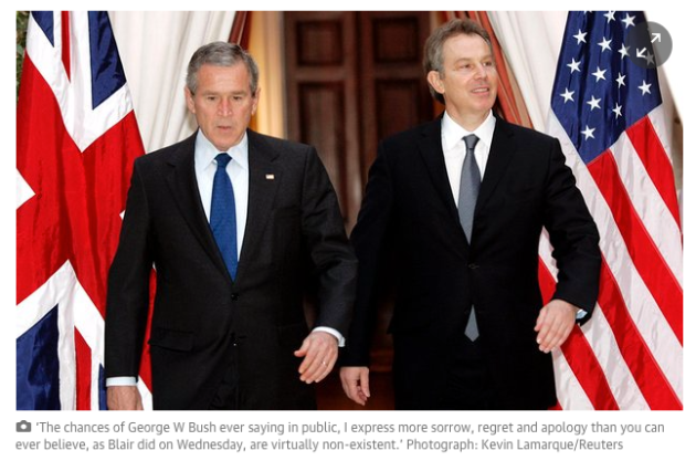 George W. Bush,  Tony Blair, Guardian, Chilcot report, Trevor Timm