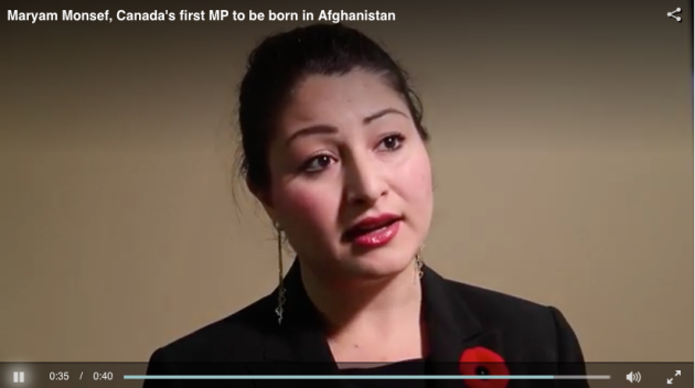 Maryam Monsef, Afghanistan immigrant,  Canadian MP