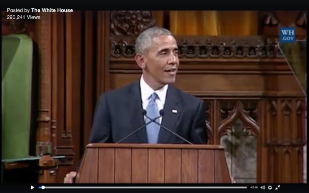 Obama, warm response