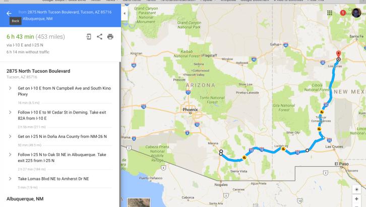 googlemap_2016-08-03_tucson_albuquerqueNM