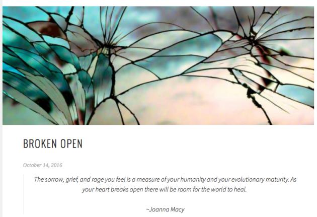 Broken Open, Heidi Barr, grief
