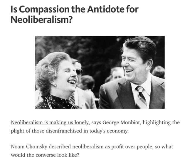 Is Compassion the Antidote to Neoliberalism