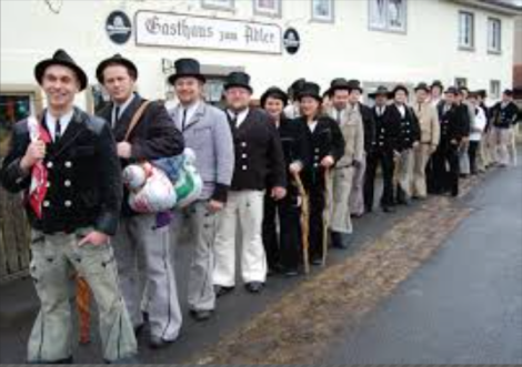 Zimmerman is a tradition that is hundreds of years old, still practiced in Germany and parts of France.