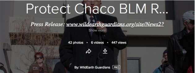 Protect Chaco, BLM, wildearth guardians