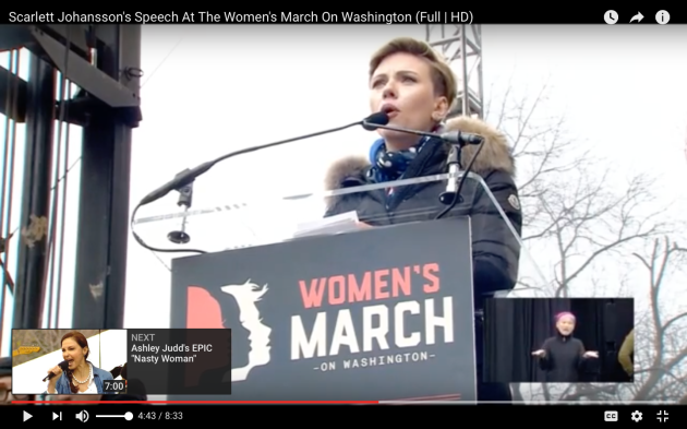 Scarlett Johansson's Speech, Women's March On Washington
