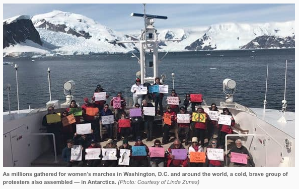 Women's March in Antarctica Jan. 21st, 2017